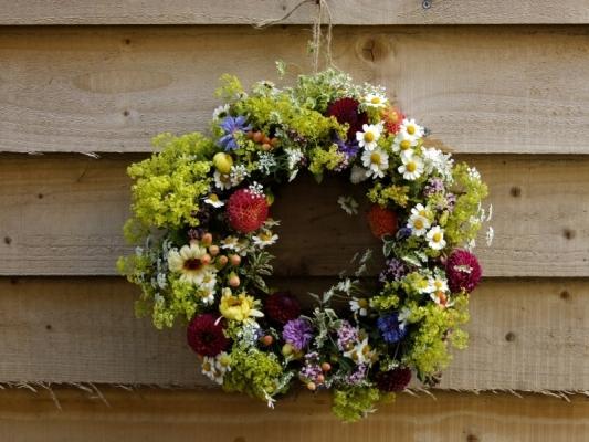 Seasonal  British Summer Flower Wreath