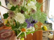 Selection of seasonal British grown cut flowers