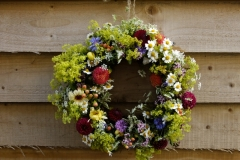 Fresh British Summer Flower Wreath