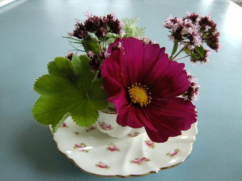Flowers in Vintage Teacup