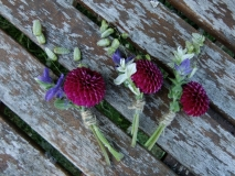 Summer Wedding Buttonholes