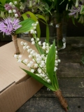 Lily of the valley posy for a flower girl