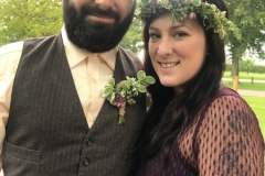 May flower crown and buttonhole