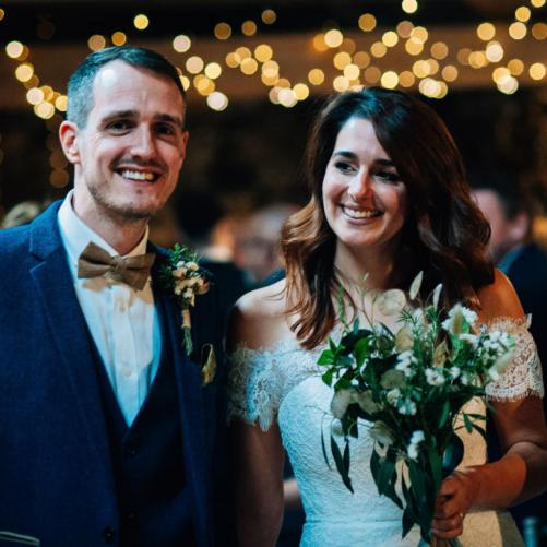 October wedding Photo by Hayley Blackledge Photography