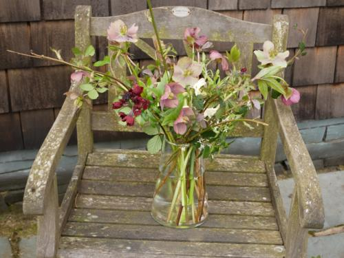 Arrangement of Spring Hellebores