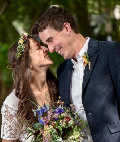 Boho Style Natural Wedding Photo by Harry Bloxham