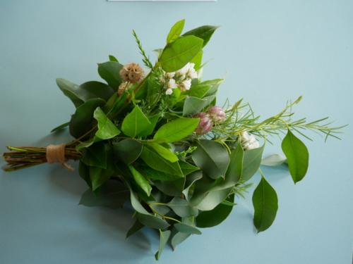 Dried Flowers and Fresh Foliage