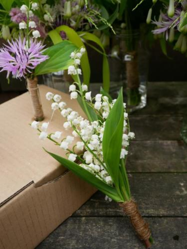 Flower Girl Posy with Lily of the Valley