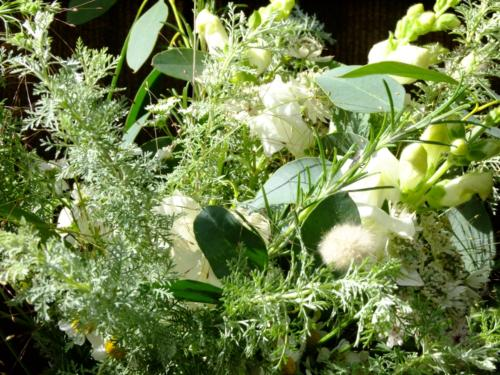Green and White Wedding Wedding Flowers