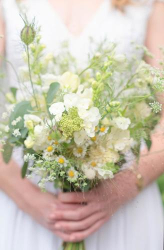 White Wedding Flowers photograph by Flo Brooks